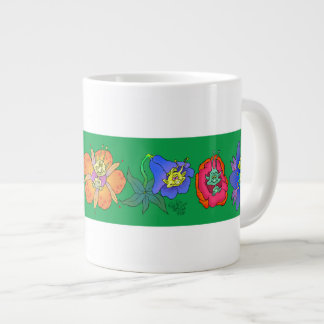 De illustratie van de cartoon van schepselen in grote koffiekop