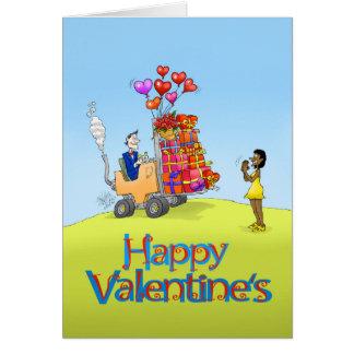 De illustratie van de cartoon voor Valentines. Briefkaarten 0