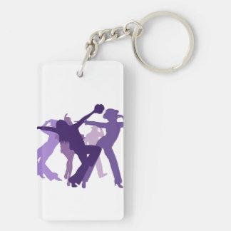 De Illustratie van de Dansers van de jazz Sleutelhanger