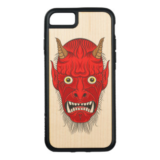 De Illustratie van de demon Carved iPhone 8/7 Hoesje