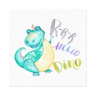 De Illustratie van de dinosaurus Canvas Print