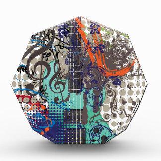 De Illustratie van de Gitaar van Grunge Acryl Prijs