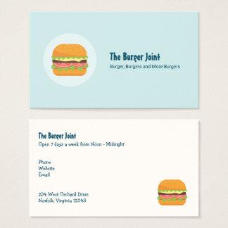 De Illustratie van de hamburger met Tomaat en Sla Visitekaartjes
