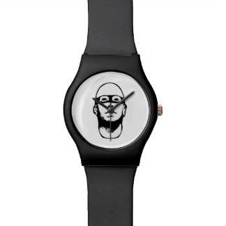 De Illustratie van de Held van Baldhead Horloge