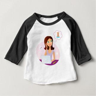 De illustratie van de het meisjeskunst van baby t shirts