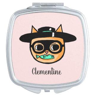 De Illustratie van de Inbreker van de kat met Reisspiegeltje