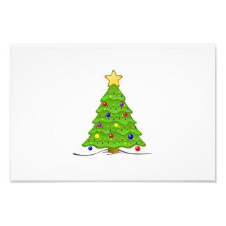 De illustratie van de kerstboom foto afdruk