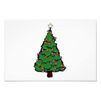 De illustratie van de kerstboom fotografische afdruk