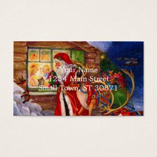 De illustratie van de Kerstman - Visitekaartjes