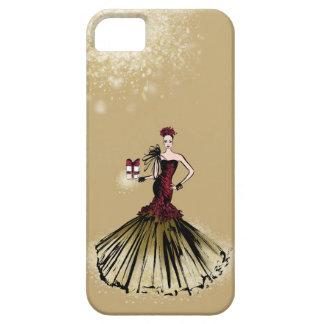 De Illustratie van de Mode van Kerstmis met pakket Barely There iPhone 5 Hoesje