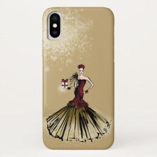 De Illustratie van de Mode van Kerstmis met pakket iPhone X Hoesje