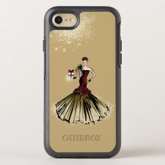 De Illustratie van de Mode van Kerstmis met pakket OtterBox Symmetry iPhone 8/7 Hoesje