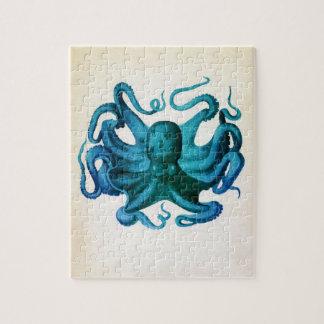 De Illustratie van de Octopus van de waterverf Puzzel