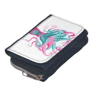 De illustratie van de octopus - wijnoogst - kraken