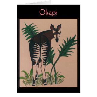 De Illustratie van de okapi Briefkaarten 0