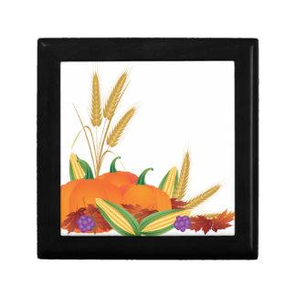 De Illustratie van de Oogst van de herfst Decoratiedoosje