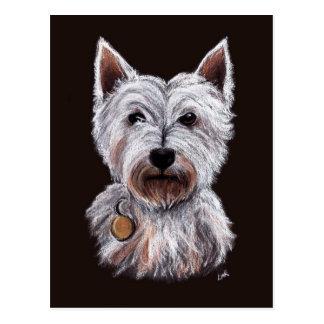 De Illustratie van de Pastelkleur van de Hond van Briefkaart