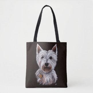 De Illustratie van de Pastelkleur van de Hond van Draagtas