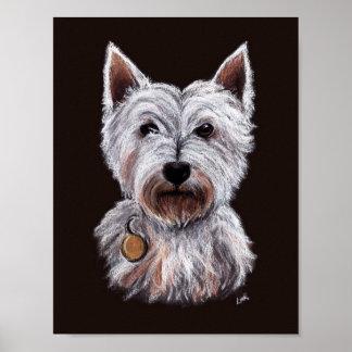 De Illustratie van de Pastelkleur van de Hond van Poster