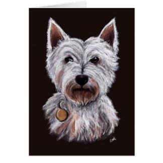 De Illustratie van de Pastelkleur van de Hond van Wenskaart
