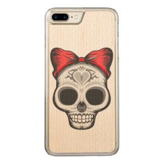 De Illustratie van de Schedel van de suiker Carved iPhone 7 Plus Hoesje