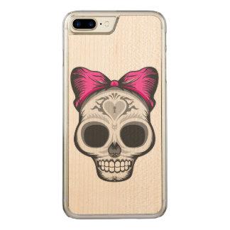 De Illustratie van de Schedel van de suiker Carved iPhone 8 Plus / 7 Plus Hoesje