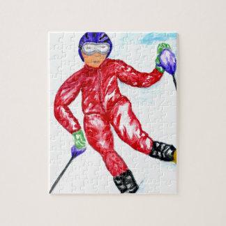 De Illustratie van de Sport van de skiër Puzzel