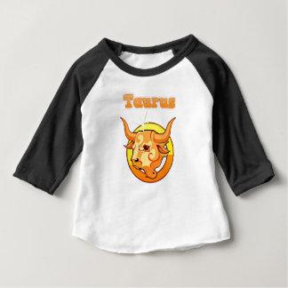 De illustratie van de Stier Baby T Shirts