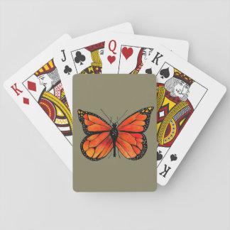 De Illustratie van de Vlinder van de monarch op Speelkaarten