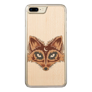 De Illustratie van de vos Carved iPhone 8 Plus / 7 Plus Hoesje