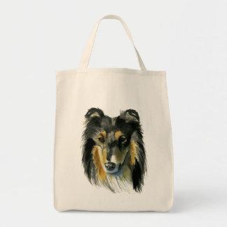 De Illustratie van de Waterverf van de Hond van de Draagtas