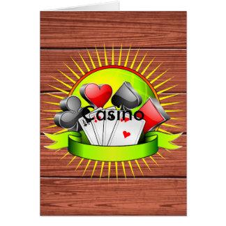 De illustratie van het casino met het gokken wenskaart