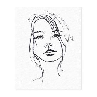 De Illustratie van het Gezicht van de mode Canvas Afdruk