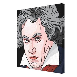 De Illustratie van het Portret van Beethoven Canvas Afdruk