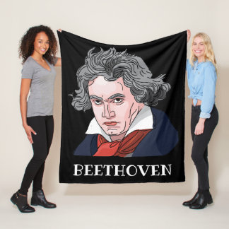 De Illustratie van het Portret van Beethoven Fleece Deken