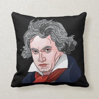 De Illustratie van het Portret van Beethoven Sierkussen