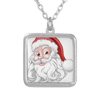 De Illustratie van Kerstmis van de Kerstman Zilver Vergulden Ketting