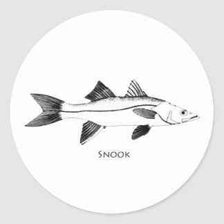 De Illustratie van Snook Ronde Sticker