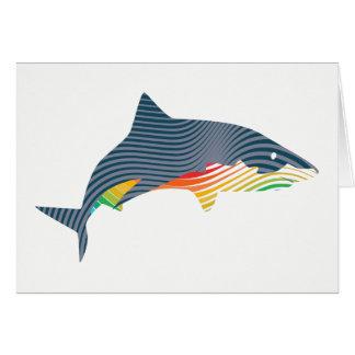 De Illustratie van Swoosh van de haai Kaart