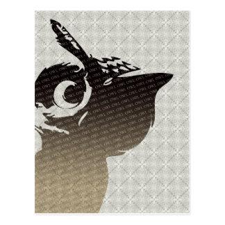 De illustratiebriefkaart van de uil briefkaart