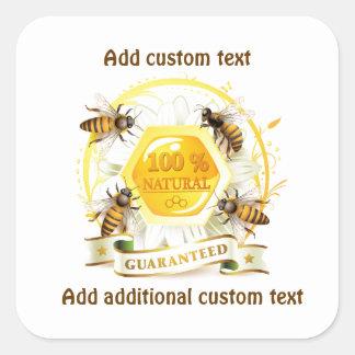 De Imker Apiarist van de Verkoper van de Honing Vierkante Sticker