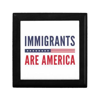 De immigranten zijn Amerika Decoratiedoosje