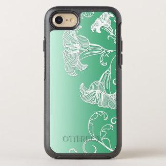 De in reliëf gemaakte Lelies van de Dag op de OtterBox Symmetry iPhone 8/7 Hoesje