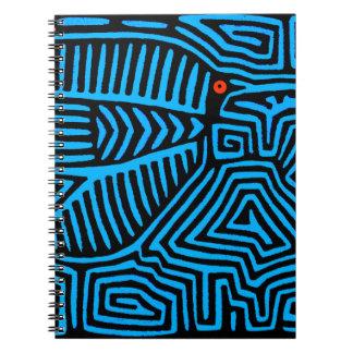 De Indische Blauwe Vogel van Kuna Ringband Notitieboek