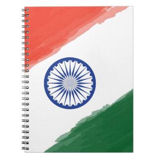 De Indische Natie van het Land van India van de Notitieboek