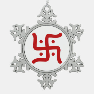 de Indische traditionele Hindoese godsdienst van Tin Sneeuwvlok Ornament