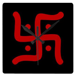 de Indische traditionele Hindoese godsdienst van Vierkante Klok