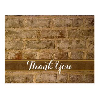 De industriële Elegante Bakstenen danken u Briefkaart