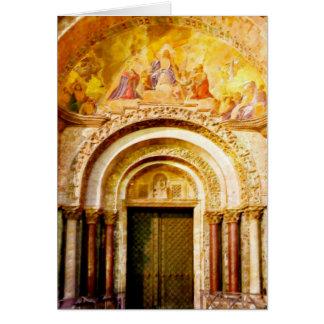 De ingang van de Basiliek van het Teken van Briefkaarten 0
