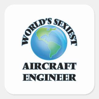 De Ingenieur van het Vliegtuig van Sexiest van de Vierkante Stickers